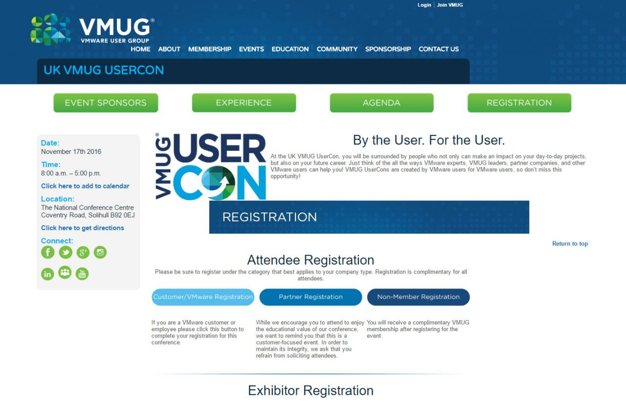 VSPL exhibiting at VMUG UserCon UK